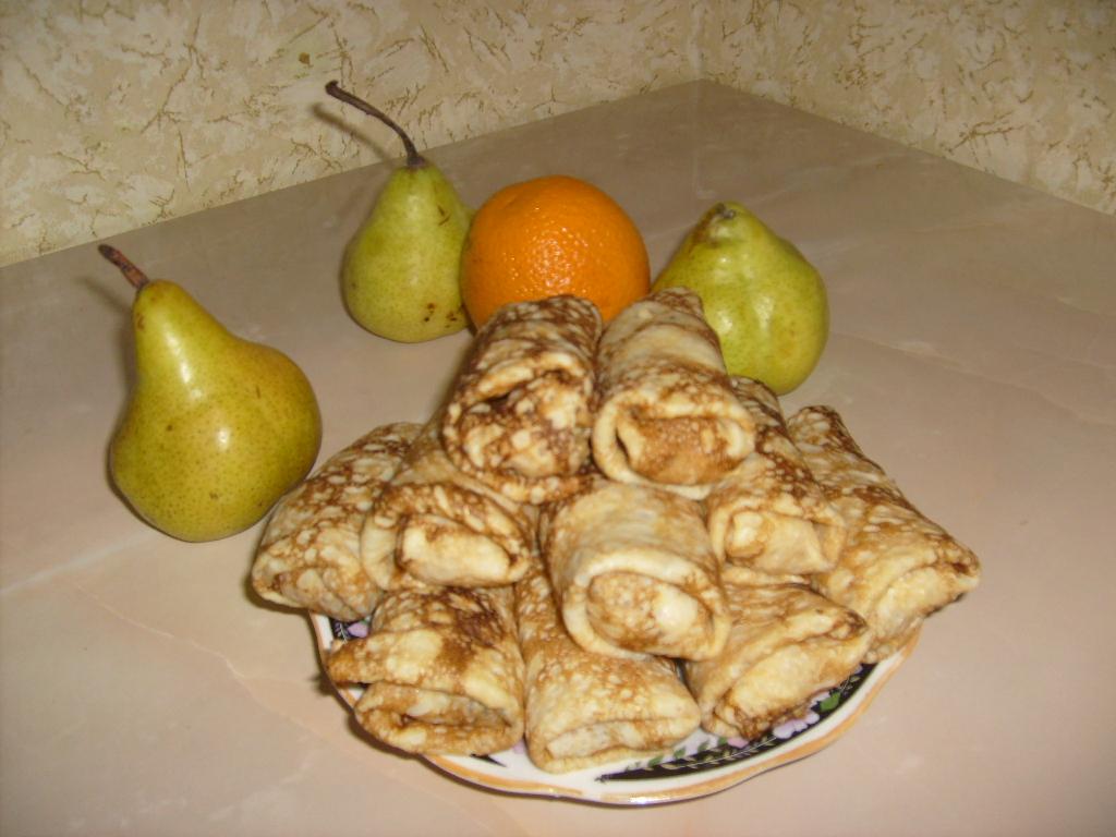 Блины с банановой начинкой рецепт пошагово 2