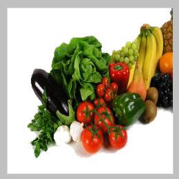 фрукты и овощи в новогоднем меню