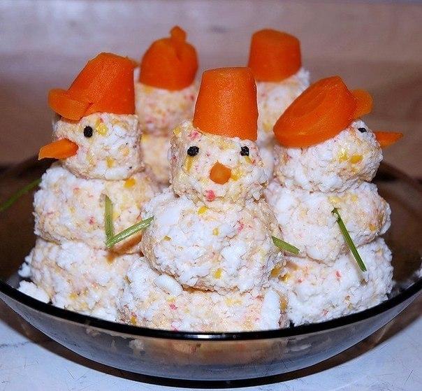Закуска снеговики рецепт с фото